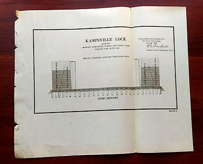 1892 Sketch Diagram of Masonry Completed for Kampsville Lock Illnois