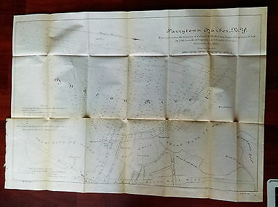 1899 US Army Map Survey Terrytown Harbor New York Col Barlow Corps of Engineers