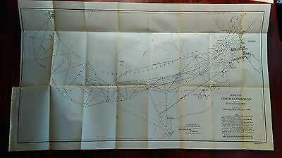 1905 Survey Map of Crisfield Harbor, MD, Iceho and Electric Company