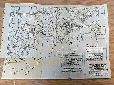 1949 Erosion Map Campo Beach Ash Creek to Saugatuck River Westport Connecticut