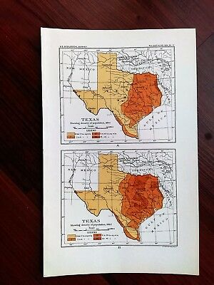 1904 GPO 3 US Geological Survey Texas Indian Territory Population Maps