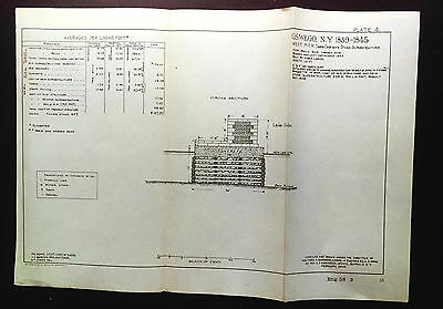 1904 Sketch Diagram Oswego NY Shows 1839-1845 Pier Structure