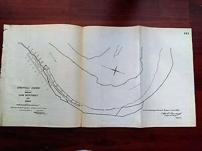 1892 Map of Greenville Harbor with Bank Revetment and Dikes