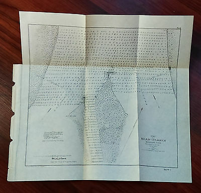 1905 Chart Map of Mississippi River, Head of Passes