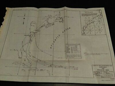 1949 Connecticut Beach Erosion Control Hurricanes and Winds Map Atlantic Ocean