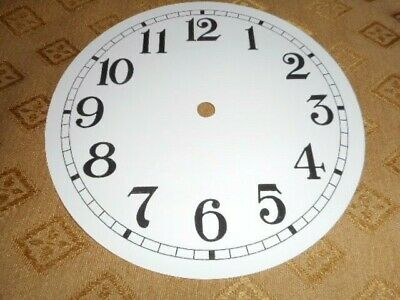 "Round Paper (Card) Clock Dial - 5"" M/T - Arabic - MATT WHITE - Parts/Spares"