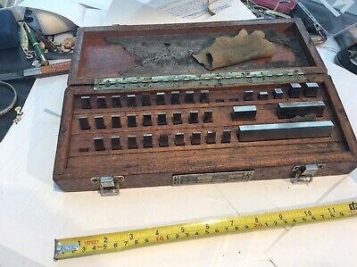 Brown & Sharpe Vintage Rectangular Gage Block Set & W/mitutoyo As Found
