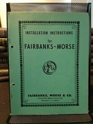 Fairbanks-Morse Installation, Operation, Maintenance - Automatic Water Softeners