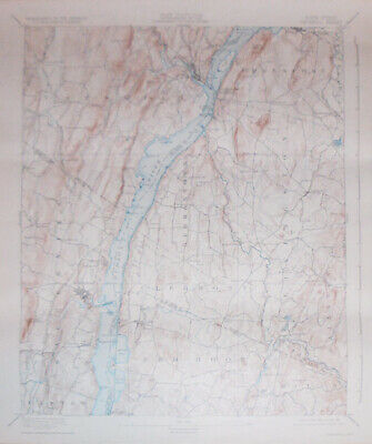 -Rare- 1931 -Catskill, NY- Vintage US Geological Survey Topographical Map