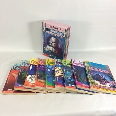 R L Stine Goosebumps Books  Lot of 13 Paperbacks 1 Boxed Set Plus Loose