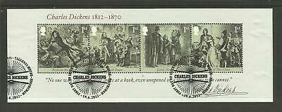 Ms3336 Gb Birth Bicentenary Of Charles Dickens Very Fine Used Mini Sheet