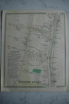 Map 1868 Windsor Locks, Connecticut FW Beers