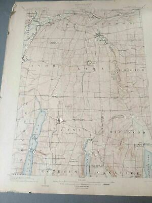 US Geological Survey Topography Map,1904 Quadrangle Honeoye New York