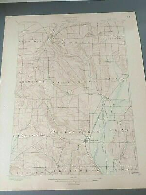 US Geological Survey Topography Map,1903 Quadrangle Cherry Creek New York