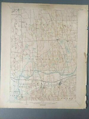 US Geological Survey Topography Map,1905 Quadrangle Weedsport New York