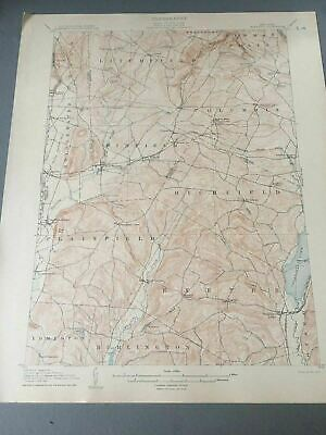 US Geological Survey Topography Map,1907 Quadrangle Sangerfield , New York