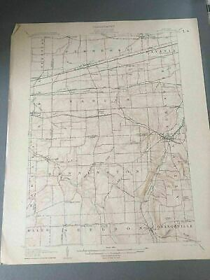 US Geological Survey Topography Map,1908 Quadrangle Attica New York