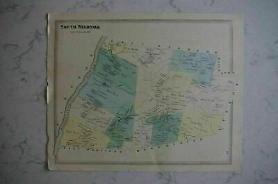 Map 1868 South Windsor, Connecticut FW Beers