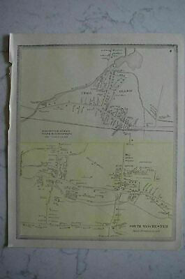 Map 1868 South Manchester, Connecticut FW Beers