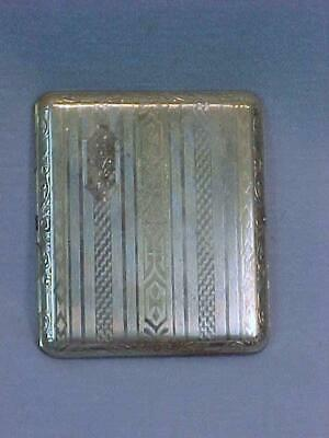 Antique Silverplate Cigarette Case ~ Monogrammed NMS ~ Made in USA