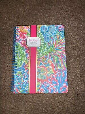 LIlly Pulitzer Tropical Print Cover Spiral w Pocket Notebook