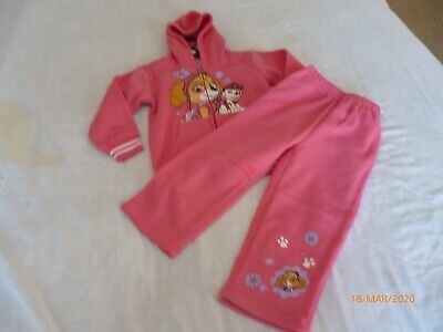 bulk lot girls tracksuits sizes 2 to 5 BNT Pink Paws 2 piece with hood