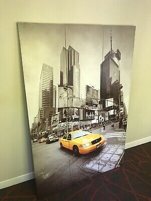 "Wall Painting: New York Taxi Cab (47"" W x 71"" H) 3 Pieces Reversible"
