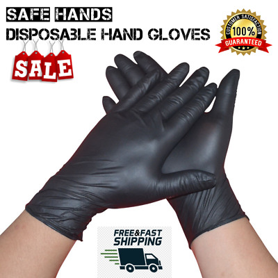 100/50PCS Disposable Gloves Medical Nitrile Powder Free Non Vinyl Latex Unisex