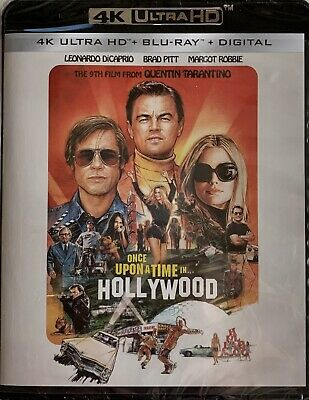 ONCE UPON A TIME IN HOLLYWOOD ~ 4K ULTRA HD + Blu-Ray + Digital *New *Sealed