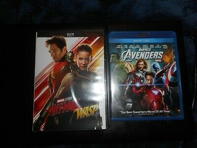 Ant Man  and the Wasp (dvd) Marvel avengers(bluray)  Movies