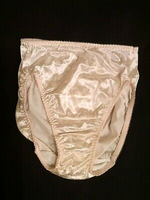 Vtg vassarette satin high leg panties size 5
