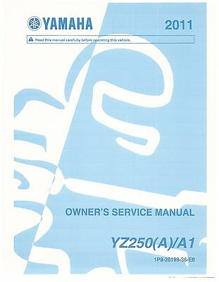Yamaha service workshop manual 2011 YZ250 (A)/A1