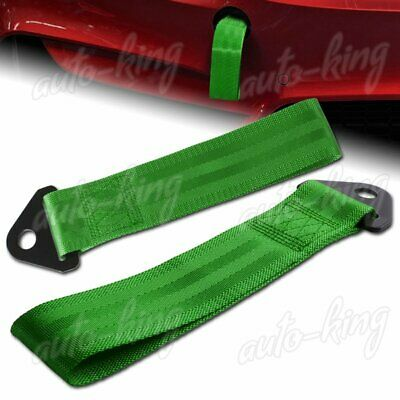 Universal Green Heavy Duty Front/Rear Car High Strength Towing Hook Strap Bumper