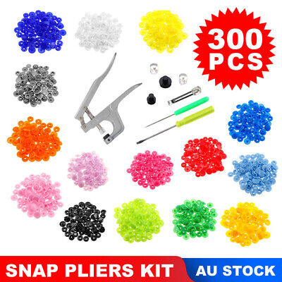300 Set T5 KAM Snap Buttons Press Studs Baby Resin Plastic Fasteners Poppers DIY