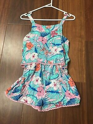 Cotton On Girls Tropical Floral Playsuit Size 12 rrp$34.95 bnwt