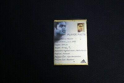 Player Facts Patrick Kluivert Football Team Netherlands Collectibles Rare Old