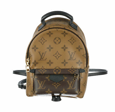 LOUIS VUITTON Brown Monogram Reverse Coated Canvas Palm Springs Backpack