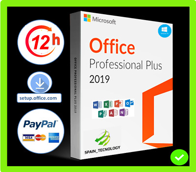 Microsoft Office 2019 Professional Plus Pc Key Clave Licencia Digital 32/64