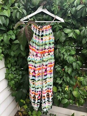 Girls Bardot Junior Size 12 Jumpsuit with Colourful Print