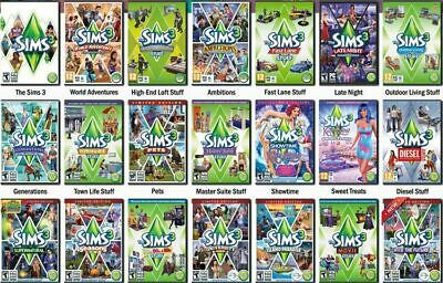 The Sims 3 Expansion Pack PC/MAC Sims3 Base game Individual Add-On Sims