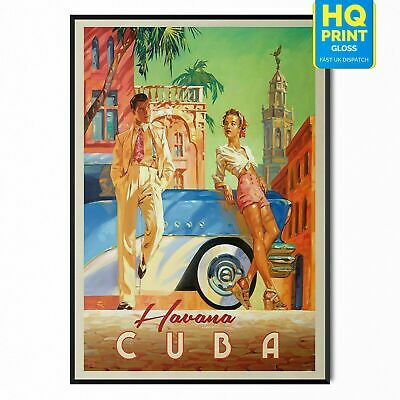 Vintage CUBA Travel Retro Posters Prints Wall Art Tourism Holiday Home Decor