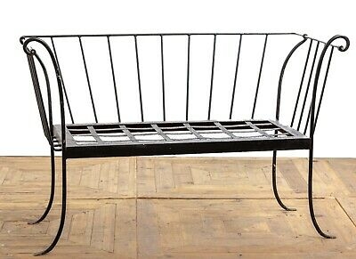 Antique Victorian / Edwardian Wrought Iron Deconstructed Sofa Settee Bench