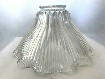 Antique Early 1900's HOLOPHANE Leaded Glass Lamp/Ceiling Fan Shade - Estate Item