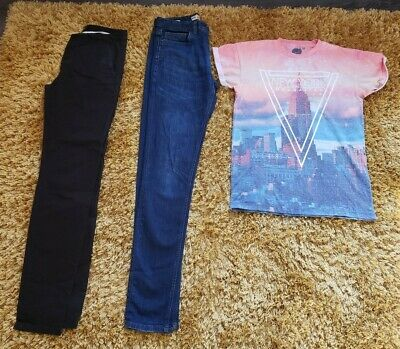 Mens Teen Boys XS Bundle NEXT SKINNY JEANS RI TROUSERS TSHIRT 28 L 28/34