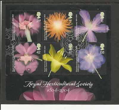 Ms2462 Gb Bicentenary Of The Horticultural Society Very Fine Used Mini Sheet