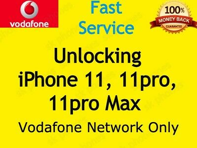 Quick Unlock Unlocking Service for Iphone 11 11 Pro  MAX for UK Vodafone VODA UK