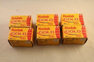 KODAK 100 GOLD  36/135 35mm FILM EXPIRED 8/07 36EXP 6  IN TOTAL BOXED UNOPENED