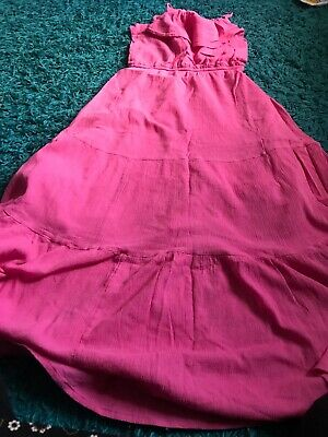 Marks And Spencer Girls Summer Maxi Dress 10-11 Years Pink