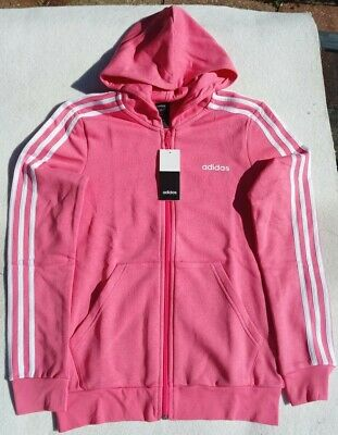 Adidas Girls Age 14 -15 Pink Hooded Jacket