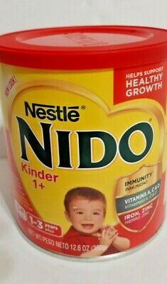 Nido Powder NESTLE Milk Kinder 1+ (1-3 years) 12.6 Oz 360g  1 Small Can